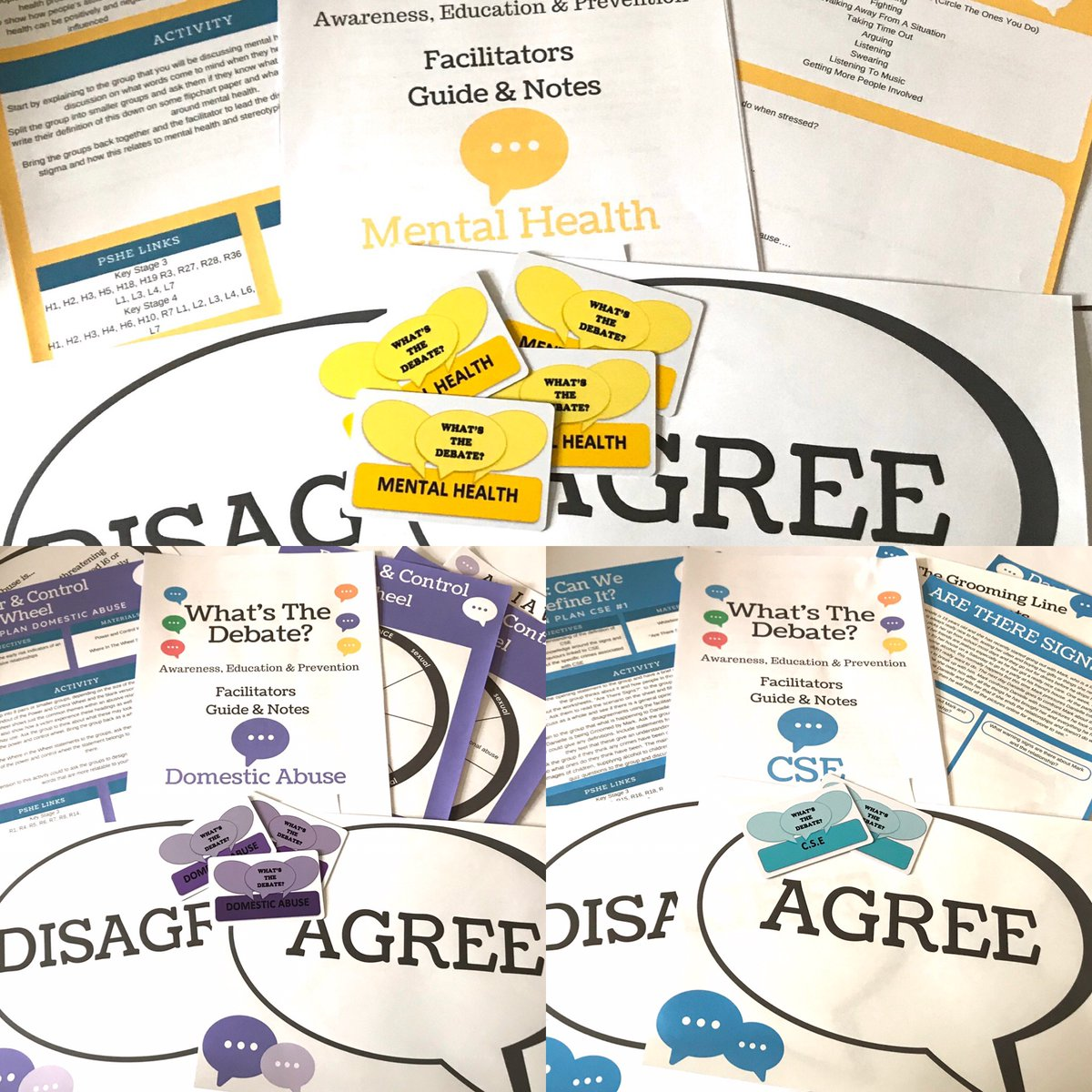 So what do you get in each of our #resource packs..  25 PVC Statement Cards 4 #LessonPlans  A Powerpoint A Facilitators Guide  There's 10% off all resources throughout July using code Limited10  #PSHE #RSHE #RSE #SRE  https://t.co/Gm5Cg6tumo https://t.co/KiaNnufV8u
