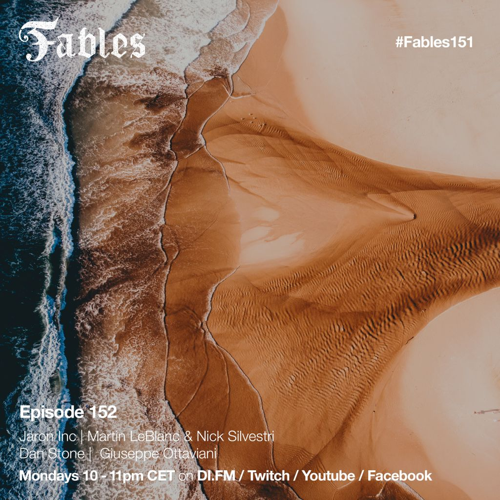 Is Monday your favorite day ? Surely yes because it's #Fables152 with new music by Jaron Inc, Martin LeBlanc & Nick Silvestri, @danstonemusic , @GOttaviani and many more..  #fables #music #electronic #ferrytayle #danstone #trance #TranceFamily https://t.co/ToZXdBWoEU