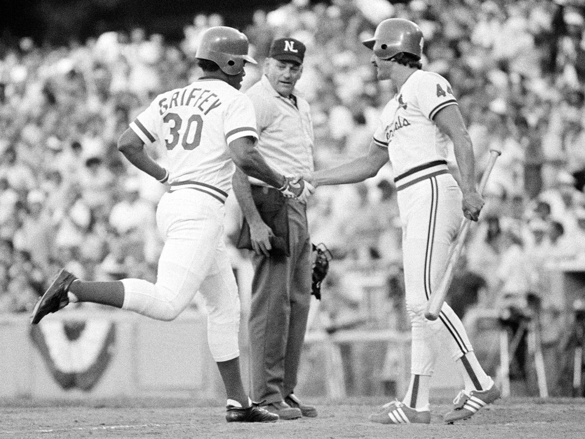 July 8, 1980: Ken Griffey is named All-Star Game MVP after going 2-for-3 with a homer in the NLs 4-2 win at Dodger Stadium. #RedsVault