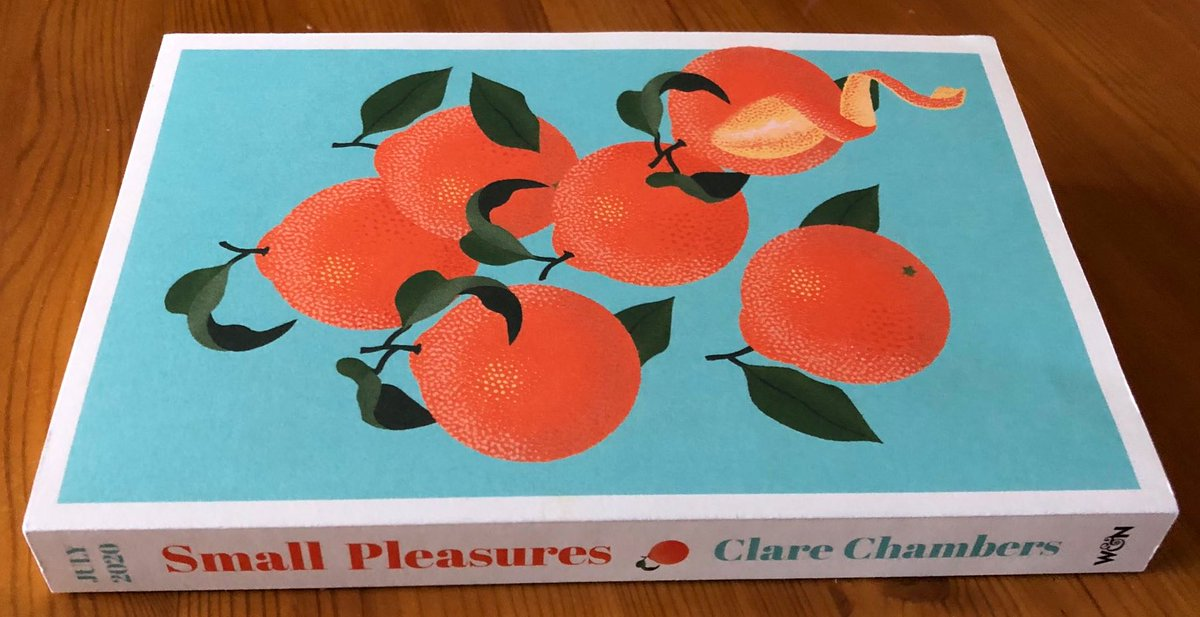 🍊GIVEAWAY!🍊 #SmallPleasures by Clare Chambers is out later this week and Im so excited seeing everyone rave about how brilliant it is! I have 5 of these iconic 🍊 proofs left so lets do a #giveaway to celebrate! RT and follow before 2pm on Weds 8 July to win!