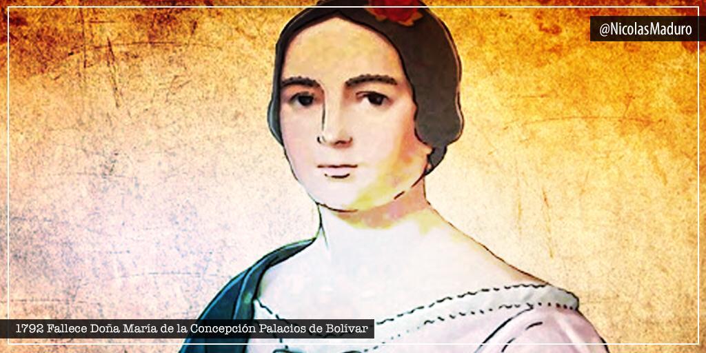 El pueblo venezolano honra la memoria de la madre de nuestro Libertador Simón Bolívar. A 228 años de su siembra, Doña María de la Concepción Palacios de Bolívar, sigue siendo un ejemplo de entrega y amor sublime para todas las familias de nuestra Patria. https://t.co/TOYXUduCJ6