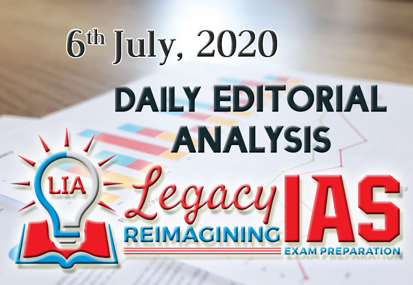 Click Here https://www.legacyias.com/6th-july-editorials-opinions-analyses/…   -for Today's Daily Editorial Analysis - 6th July 2020. Very crucial for Mains, read on without fail!  Join Our Telegram Channel at: http://t.me/legacyias  #ias #upsc #civilservices #upscexam #ips #upscprelims #currentaffairspic.twitter.com/bArluQuc2s