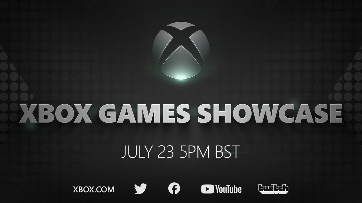 🎮 Xbox Games Showcase 🗓️ July 23rd ⏰ 5pm BST  @SummerGameFest Pre-Show at 4pm BST with @GeoffKeighley on @YouTubeGaming  #XboxGamesShowcase https://t.co/iRNdl326p7