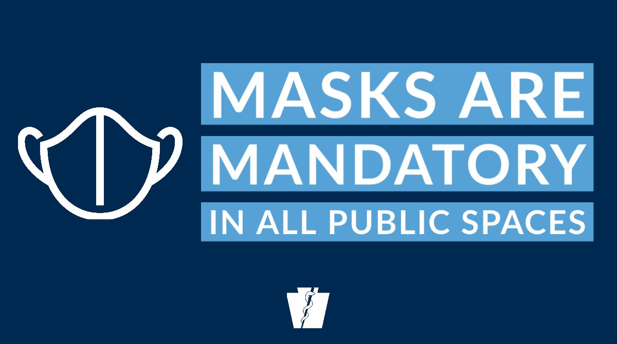 Q: When do I need to wear a mask 😷?  A: You're required to wear a face mask when you are: ➡️outdoors + unable to consistently stay 6 feet away from those who are not members of your household ➡️in any indoor location where the public is generally permitted https://t.co/gUtbP11knq
