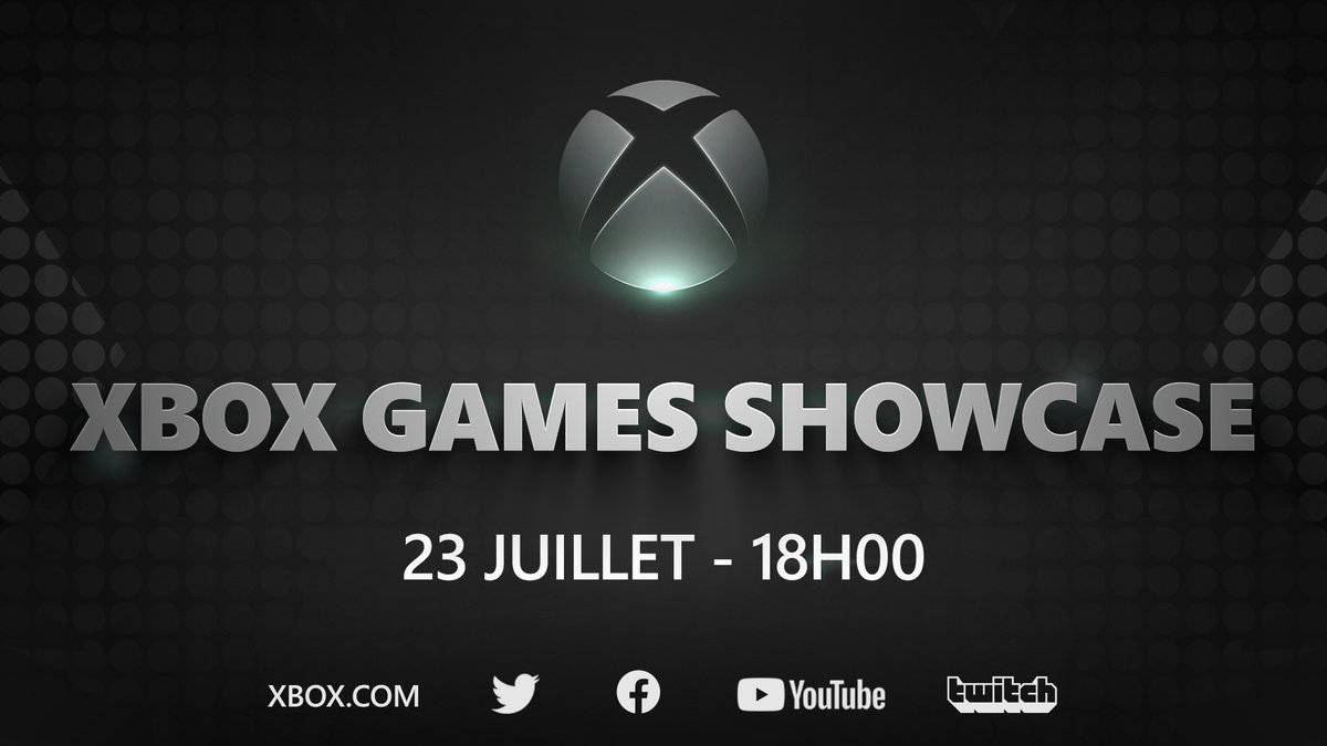 🎮 Xbox Games Showcase 📅 23 Juillet ⏰ 18H  @SummerGameFest Pre-Show à 17H avec @GeoffKeighley sur @YouTubeGaming  #XboxGamesShowcase https://t.co/fZJtN4Otsf