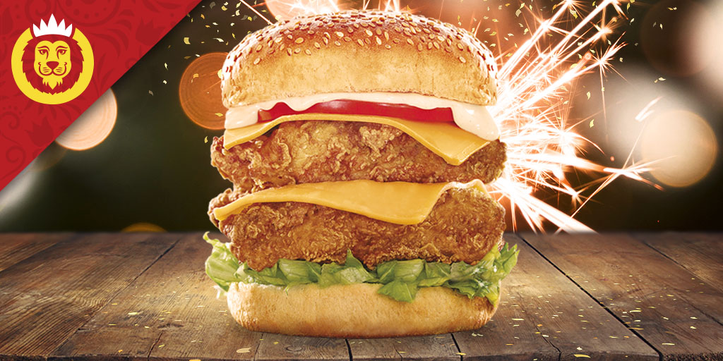 The BOSS is here! If you are a fan of our Double Big Boss Burger! Like, RT and comment #FriedChickenDay #ProudlySouthAfrican & you could WIN! Ps. Make sure that you're following us. Lets go! #HungryLikeALion