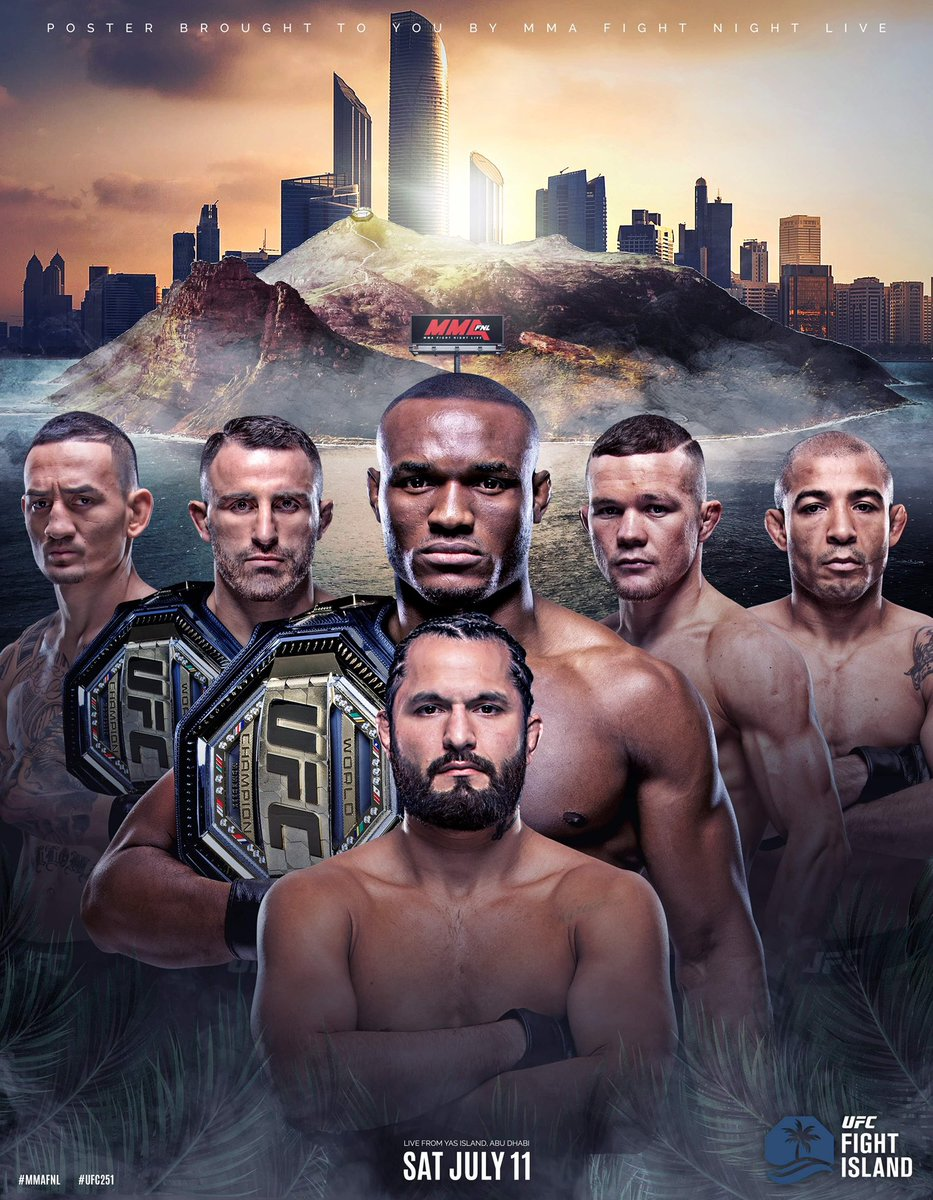 Not all heroes wear capes.  Jorge Masvidal steps in on a week's notice to fight Kamaru Usman at #UFC251  Revised Poster 👇🏼  cc:  @GamebredFighter  @USMAN84kg  @alexvolkanovski  @BlessedMMA  @josealdojunior  @PetrYanUFC https://t.co/oldGXvIQv2