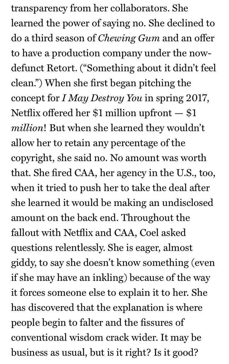 the fact that michaela didn't take IMDY during the netflix gold rush tells you everything about how she approached the business side of tv https://t.co/3QrVHF7qOA https://t.co/nwgNQwJi3M