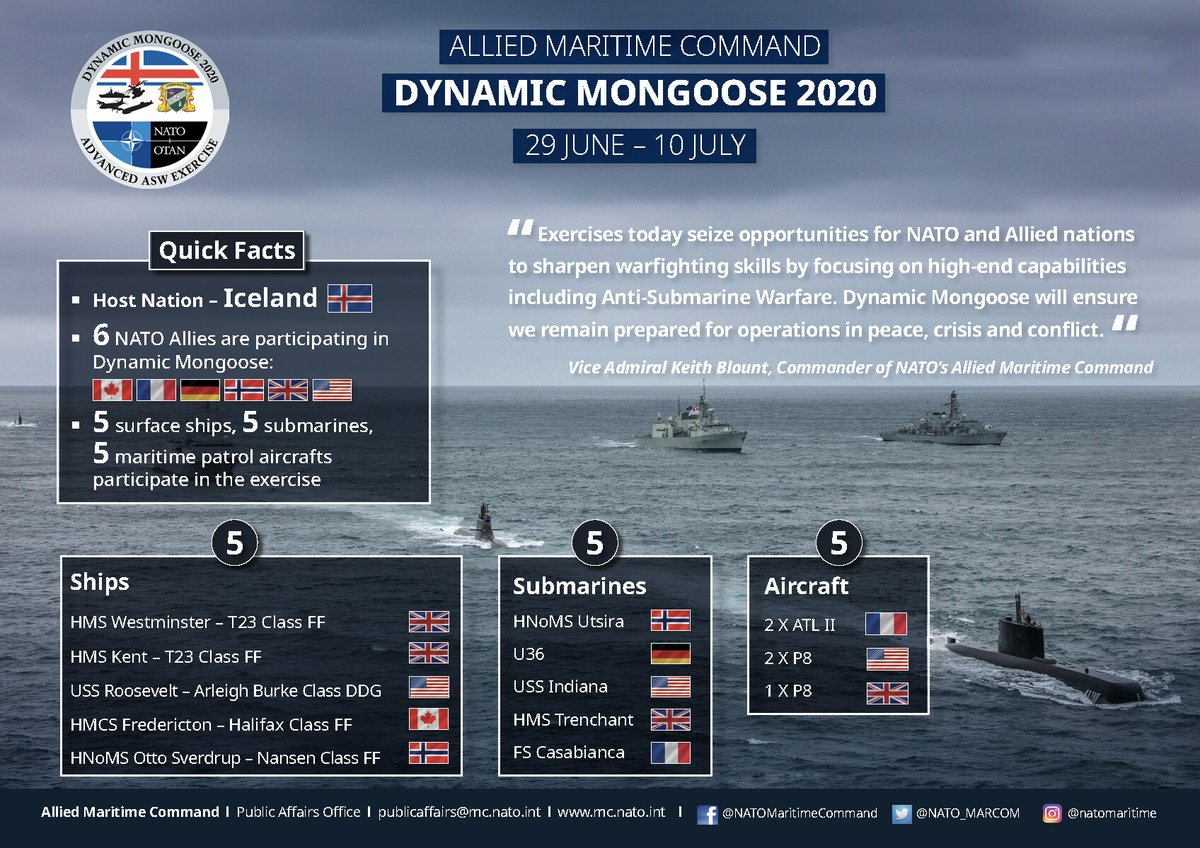 How much do you know about #NATO exercise #DynamicMongoose 2020? 🌊 https://t.co/usOeYRvktp