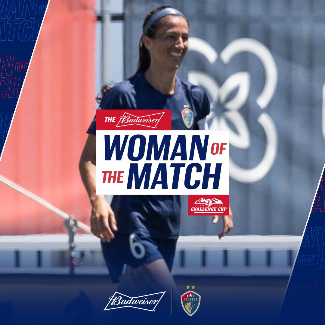 .@abbyerceg was named @budweiserusa's Woman of the Match for yesterday's game.  #NoFinishLine https://t.co/13UVTMNCxm