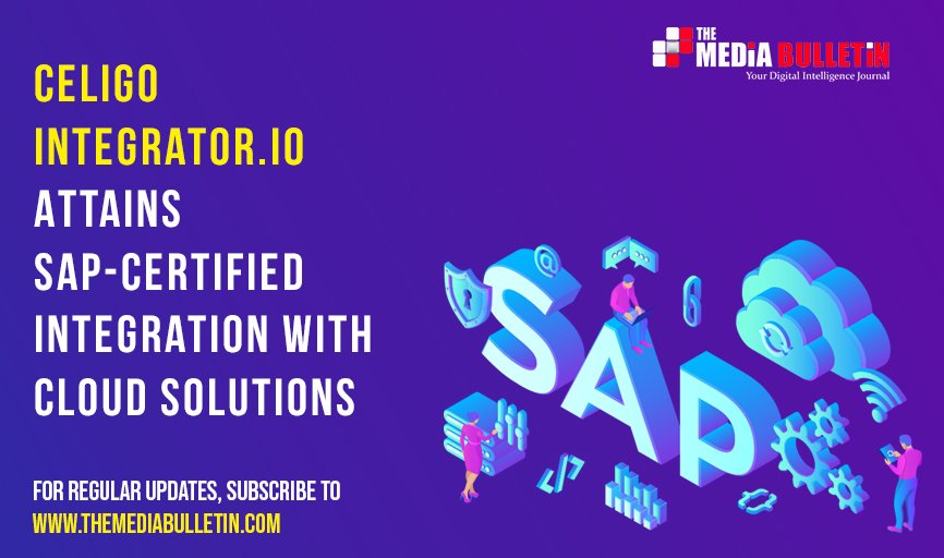 @celigoinc has announced that its #integrator.io platform has achieved #SAP certification as an integrated cloud #solution. For more information, #listen using our voice feature! https://lnkd.in/dDadTtS   #themediabulletin #cloud #solutions #networkservices #hub #solutionspic.twitter.com/wX4CrIPA3J