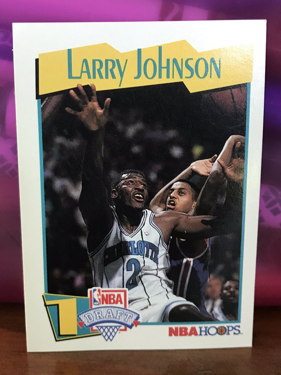 Not an amazing player, but a fun one. Larry Johnson was a forceful dunker and solid shooter. His reel: youtu.be/-yYgcV0iOmw No. 1 overall pick in 91. Appeared in Space Jam, which is the highest honor short of the Hall of Fame. And he was Grandmama.