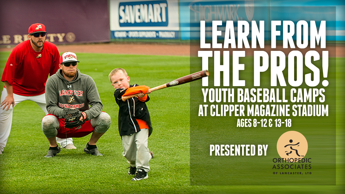 Barnstormers Baseball Camps presented by Orthopedic Associates of Lancaster kick off next Monday, July 13 at Clipper Magazine Stadium! Professional instruction for kids 8-18! ⚾️❤️  Learn More/Register: https://t.co/EYtfaosqMx https://t.co/cwU6TUI8KR