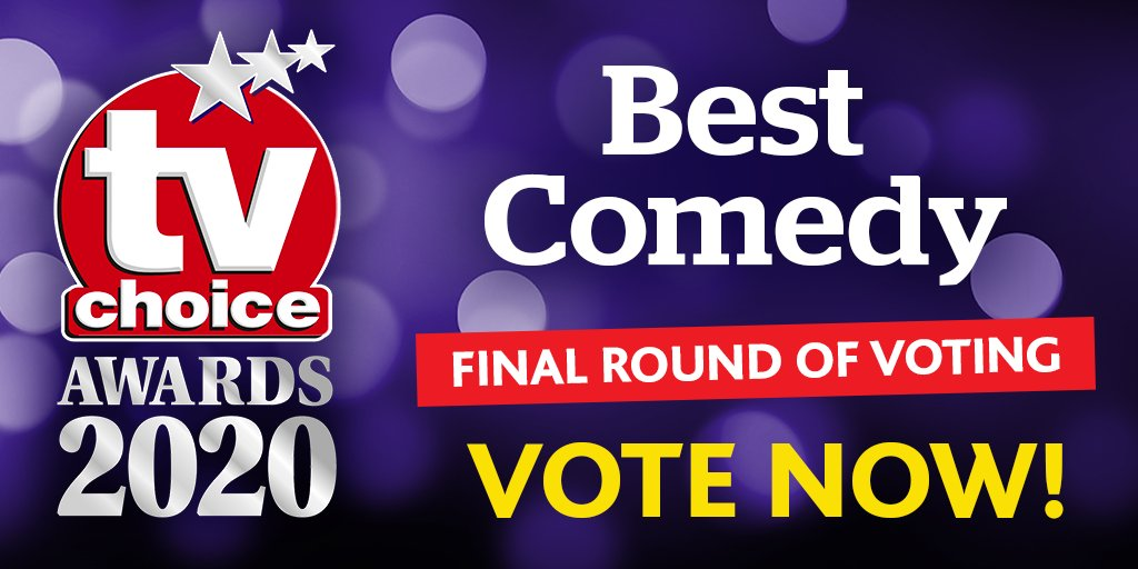 Which of these hilarious shows gets your vote for BEST COMEDY in the 2020 #tvchoiceawards shortlist? CLICK HERE TO VOTE NOW! https://t.co/GGTqMZhBL7 #AfterLife @rickygervais #Brassic #FridayNightDinner #StillOpenAllHours @NetflixUK @SkyTV @Channel4 @BBCOne https://t.co/t8RgLr1nnv