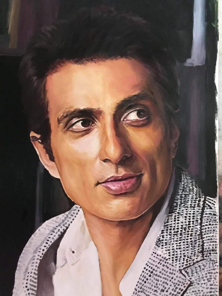 @SonuSood embracing my art to pay tribute for this beautiful soul and a real life hero. #myartwork #myart #SonuSood #sonusood_a_real_hero https://t.co/iNgT2J8tE2