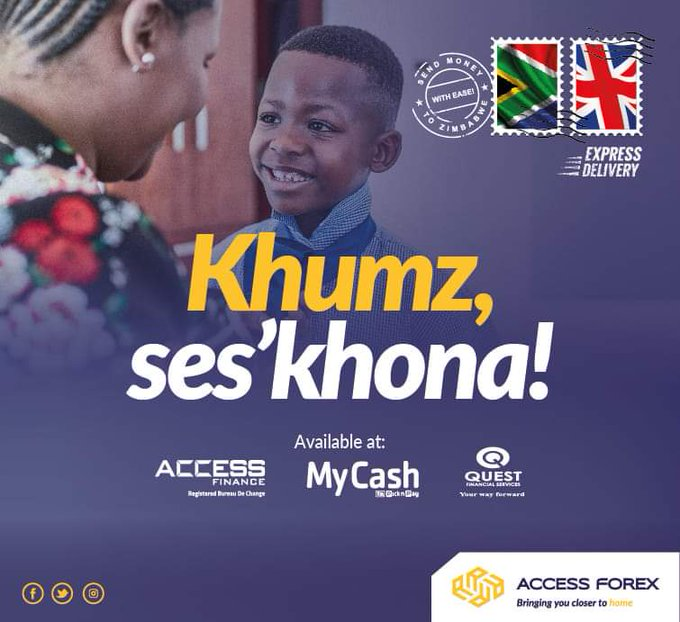 Send and receive money from South Africa and the UK with Access Forex. USD guaranteed at all our branches nationwide. Let us bring you closer to home.   #MariKumba #ImaliEndleni #SendMoney  @AccessForexIntl @AccessFinanceZW https://t.co/Y3CpbSv8Wz