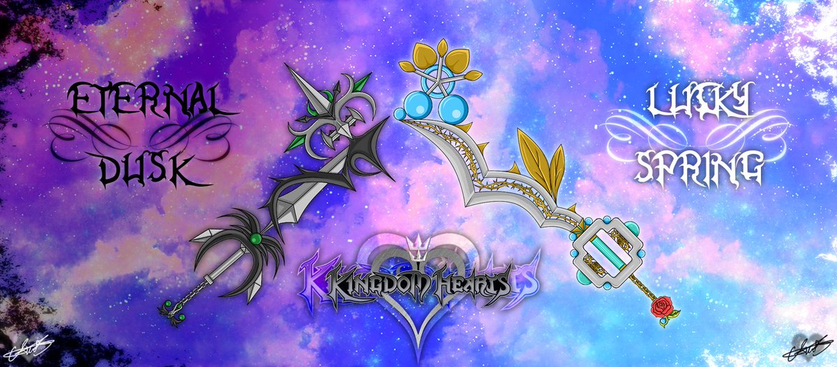 @RedYellowGreen0 making amazing keyblades personally for me. Pure happiness 😁  #kingdomhearts #Keyblades #fanart https://t.co/lUpsEKd001