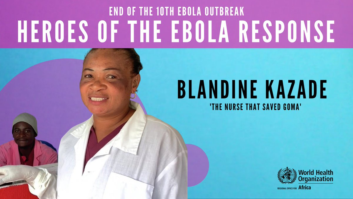 """Meet the heroes who were on the front line to end of the 10th #Ebola outbreak in #DRC 🇨🇩!   Espérance tested the first positive Ebola case in Goma. """"Instinct told me, something was wrong... I was scared. At first glance, I did not want to believe it.""""  👉🏿https://t.co/WBCFRFy7pM https://t.co/6ldvU098sc"""