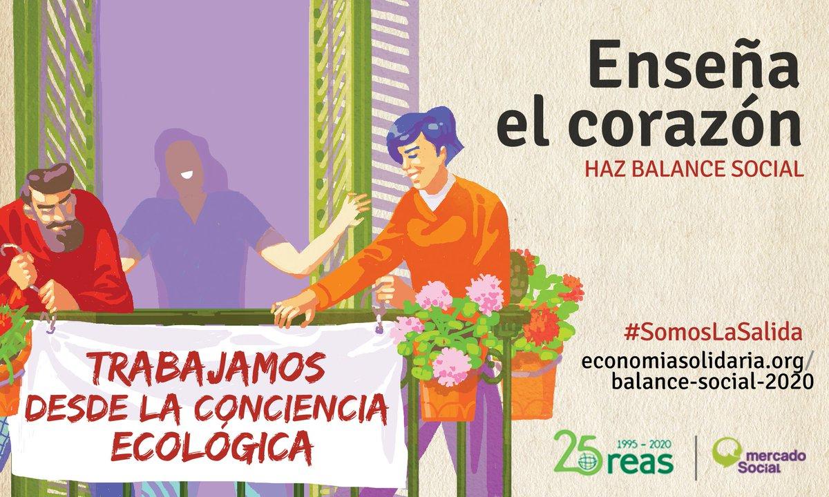 La #EconomíaSolidaria trabaja con conciencia ecológica. #SomosLaSalida a la crisis ecológica actual. Para demostrarlo y apoyar a las entidades de la #ESS en esta crisis post #Covid19, realizamos el Balance Social. Si aún no habéis empezado, ¡súmaros! https://t.co/zTZh7DR7N2 https://t.co/dkGrFViu5M