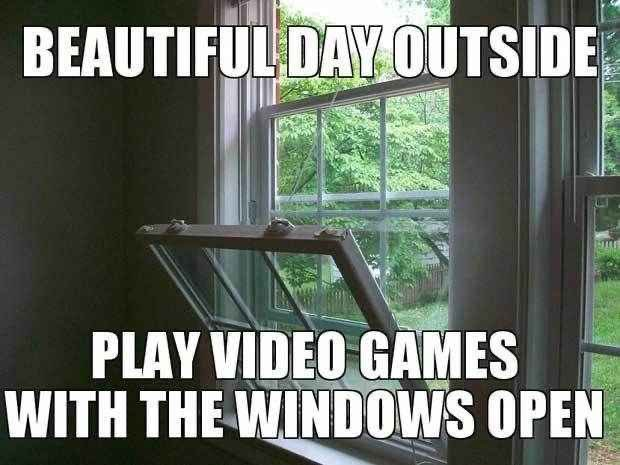 Open those windows and enjoy your videogames! Who else does this?  #summer #gamers #Gamerlife #gamingroom #gamingmemes #videogames #gamecontroller #pcgaming #consolegamer #mobilegaming #NintendoSwitch #summertime #Summer2020 #SummerVibespic.twitter.com/cHcSHuCjMI