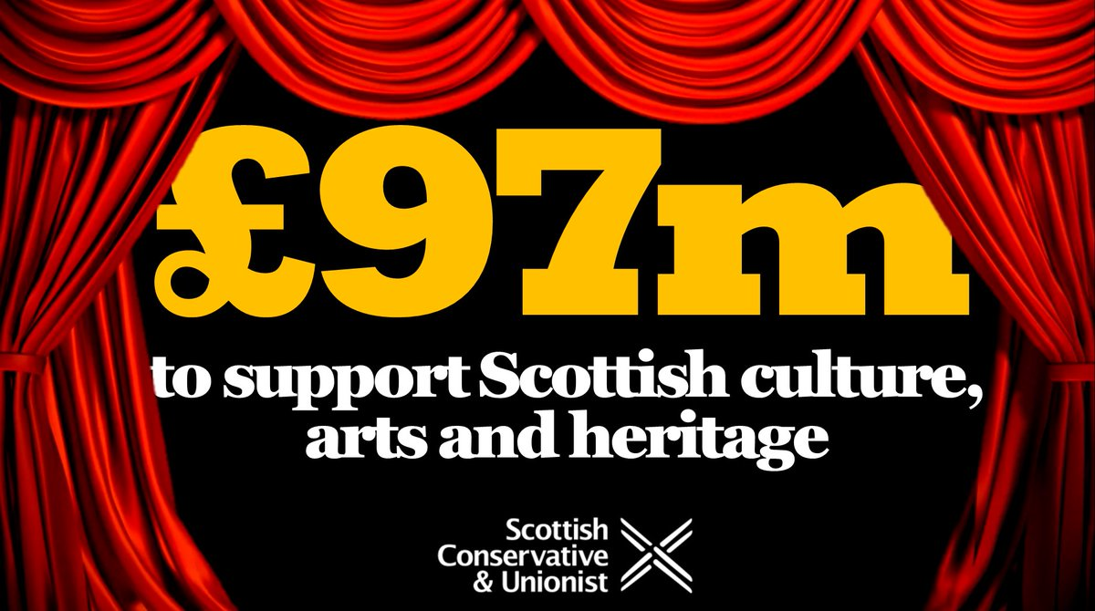 Scotland will receive £97 million from the UK Government as part of its £1.57 billion package to support cultural, arts and heritage institutions. Yet another example of how Scotland benefits from the Union.