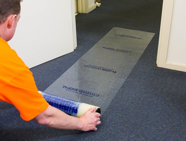 THOR5110 Carpet Film is a self adhering clear polyethylene film used for temporary carpet protection. Call us on 1300 375 144, no question is too small! Get the right stuff and visit: https://1l.ink/ZXQD6K7  . . . #lamcal #prefab #getaquote #carpetfilm #thor #CarpetProtectionpic.twitter.com/StaHHF0EfK