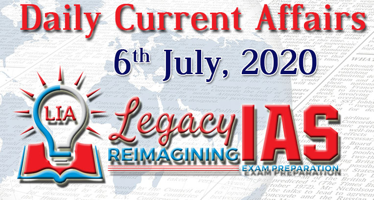 Click Here https://www.legacyias.com/6th-july-current-affairs/…   -for Today's Daily Current Affairs - 6th July 2020. Lots to learn, don't miss out!  Join Our Telegram Channel at: http://t.me/legacyias  #ias #upsc #civilservices #upscexam #ips #upscprelimspic.twitter.com/2Ubd2RBuMz
