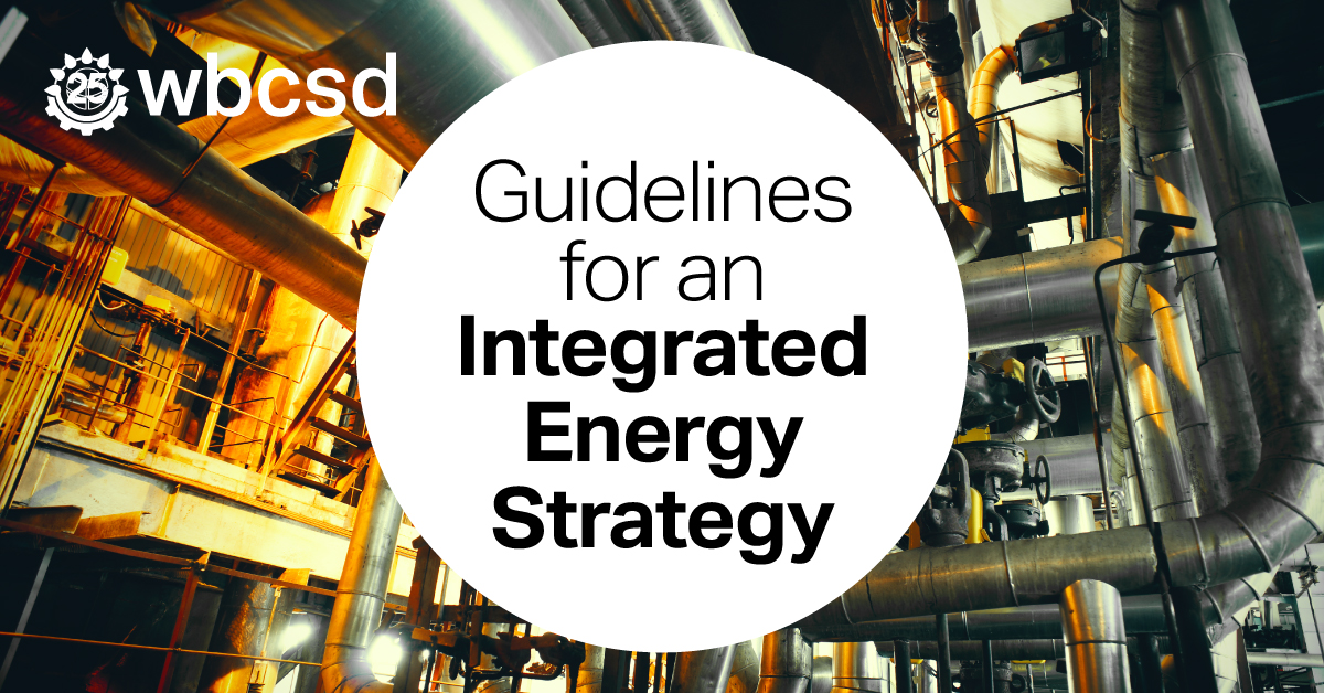 All companies need to rethink their business strategy to reduce emissions in line with 1.5°C Our new guidelines help companies identify opportunities to source low-carbon #energy and build #resilience across the value chain #IntegratedEnergyStrategy wbcsd.org/IO5wt