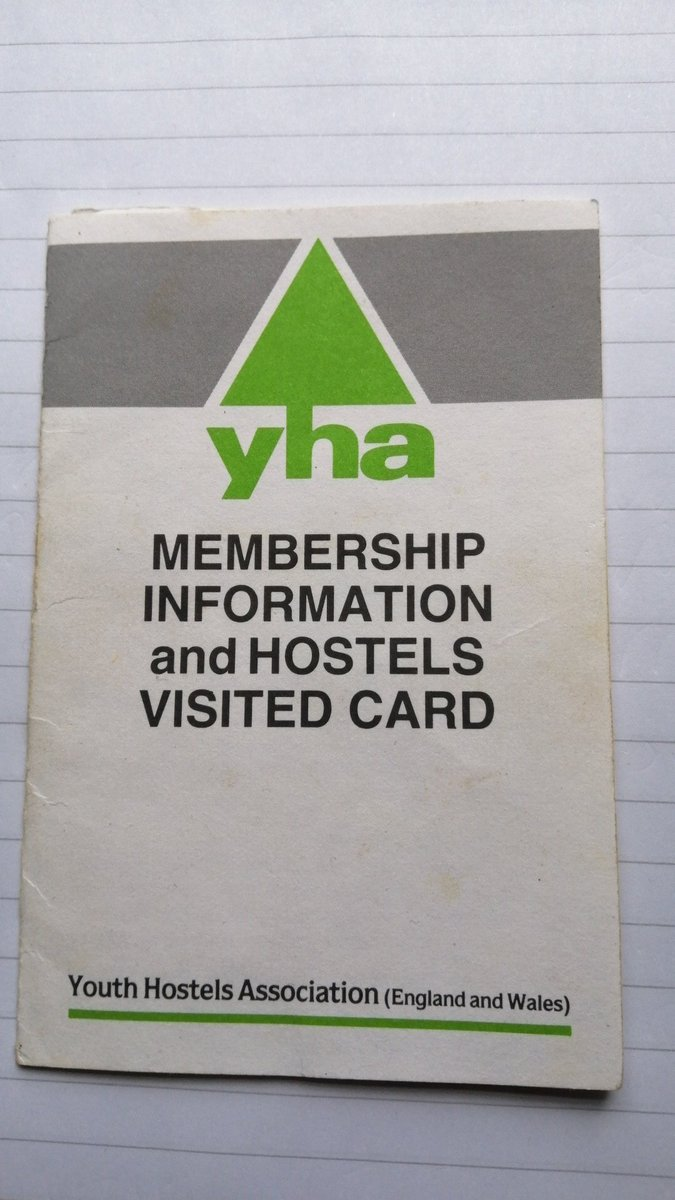 Rummaging through some of my Mum's old papers & found this gem from our @YHAOfficial trips as a child. It's true what the YHA says: 'where you go changes who you become'. 🤩 That's why it's so important all children can have these formative experiences too! @CPRE https://t.co/o3hEXQO59F