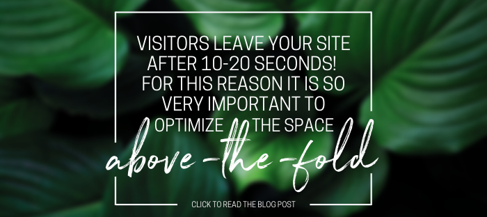 You're losing customers RIGHT NOW on your website if you're not optimizing the space above-the-fold.   Find out more in the blog below.   https://buff.ly/3aX25p0    #businesstips #websitedesign pic.twitter.com/DA6I6EcyGo