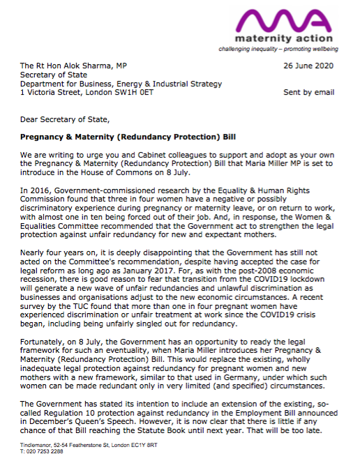 Maternity Action On Twitter The Government Could Act On This Recommendation On Wednesday When Mariamilleruk Introduces Her Pregnancy Maternity Redundancy Protection Bill The Bill Is Strongly Supported By Campaign Groups