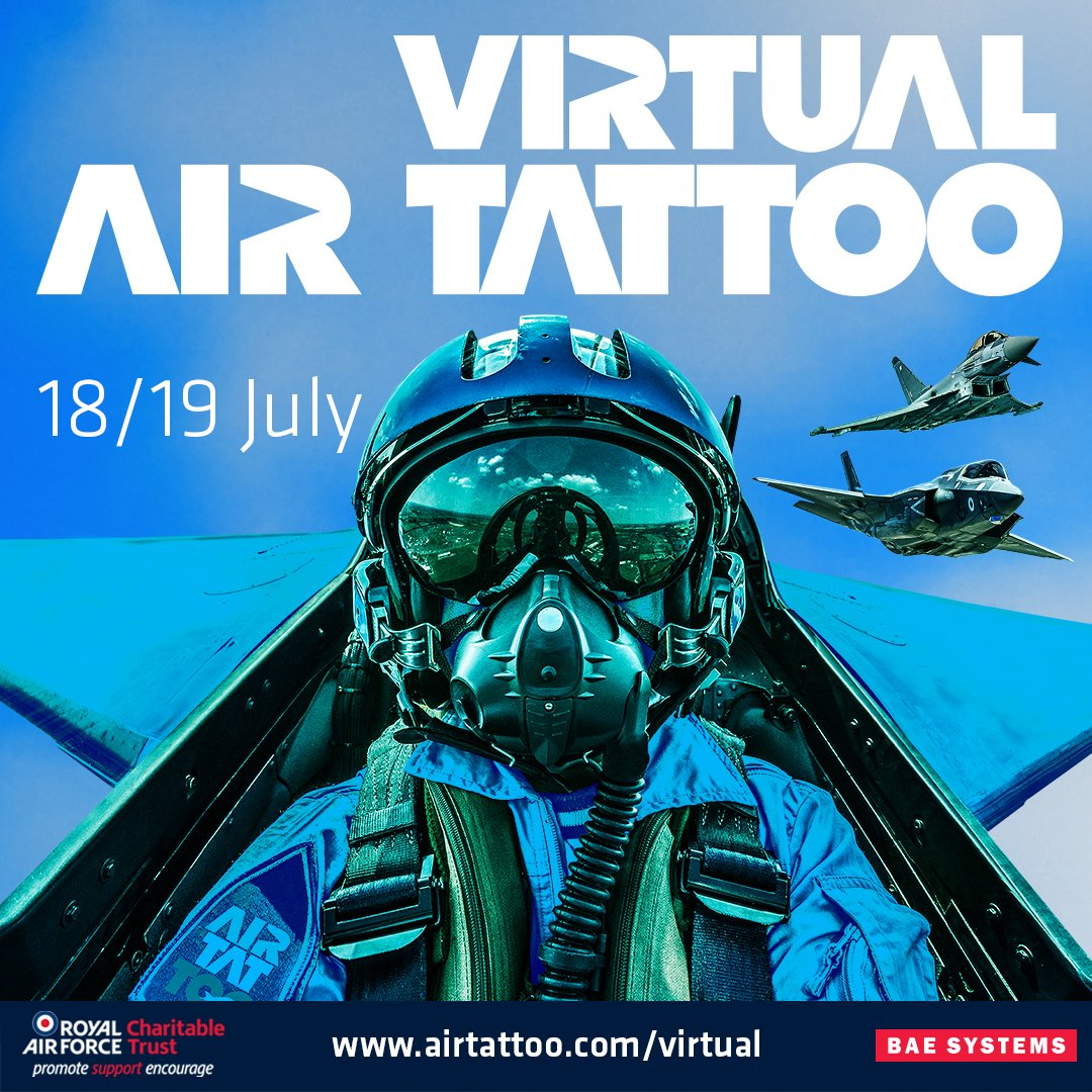 Under two weeks to go until virtual @airtattoo!  Experience virtual flying displays, interviews & unique behind the scenes footage with four hours of live-streamed content each day.  Find out more: https://t.co/QPE19rOe8V  #NextGenRAF #VirtualAirTattoo https://t.co/NuoQT54dlD