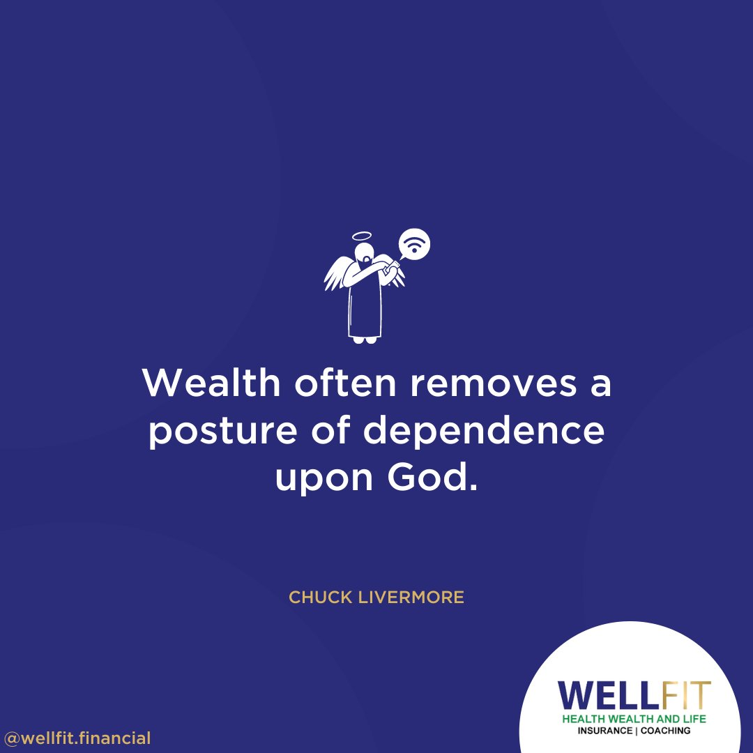 Wealth often removes a posture of dependence upon God. #MondayMotivation #successquotes <br>http://pic.twitter.com/dwsFhRBTxB