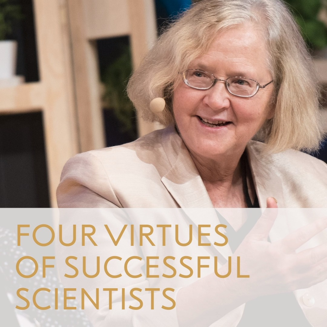 What traits do you need in order to become a successful scientist? Elizabeth Blackburn shares what she believes are the four most important traits. Blackburn shared the 2009 Medicine Prize with Carol Greider and Jack Szostak for their research on telomeres and telomerase.