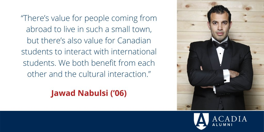 Jawad Nabulsi ('06) is an activist & social entrepreneur.   His NGO, the Nebny Foundation, has touched over 100,000 lives, providing education, health care and employment in Cairo's poorest neighbourhoods.  Learn more: https://t.co/9klbB3kYFS  @jawadnabulsi #AcadiaU https://t.co/gWT037Us2v