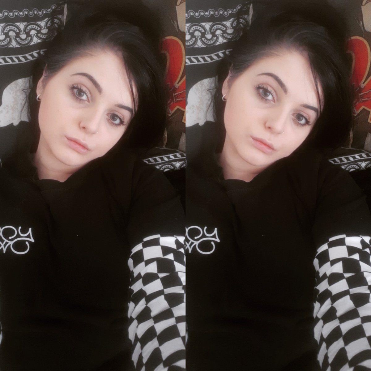 No amount of make up or filters can make my eye bags disappear #tired #blackhair #rocknroll #rocksinger #nosestud #nosering #piercing #gothic #gothicgirls #grunge #alternative #femalefronted #rockband #hardrock #swallowsanddaggers #kaylyde #femalesinger pic.twitter.com/sgf8LSmCXl