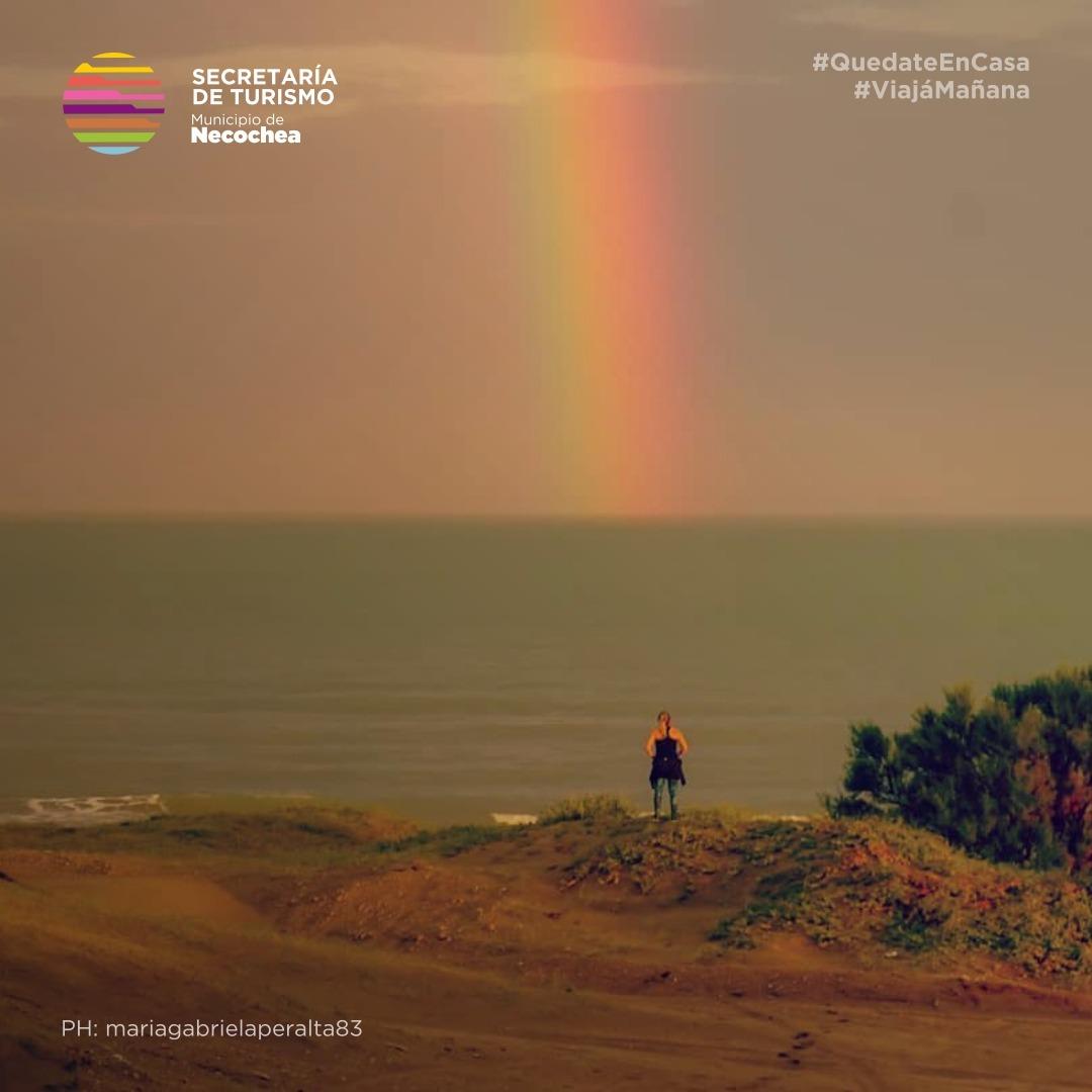 Un buen comienzo determina el resto de los días. ¡Feliz lunes!  #BuenLunes #Arcoiris 🌈 #NecocheaTeEspera #Necochea #Costa #PaisajesQueEnamora #Playas #VolverAViajar 🏖️ #ViajaMañana #FelizSemana https://t.co/HUq7lKtQtr