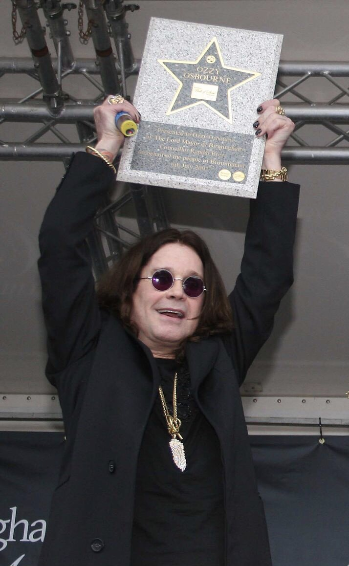 July 6, 2007 Receiving award at the Birmingham Walk of Stars