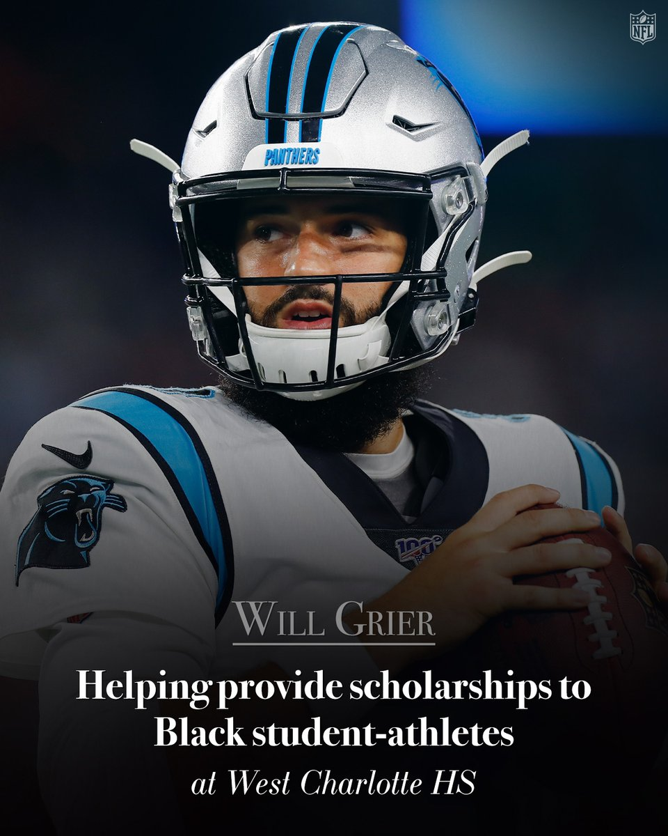.@willgrier_ is raising money to provide college scholarships for black student-athletes in his hometown of Charlotte. #InspireChange  To donate to the cause, visit: https://t.co/jsR2XG5q9P https://t.co/1FrutaUhbt