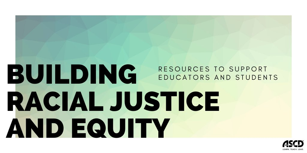 At ASCD, we believe that Black Lives Matter and are dedicated to supporting educators, students, and school communities as we work to dismantle racism at every level. We have curated a list of free resources to help you during this time: https://t.co/LaHXy6m74X https://t.co/fWNJtavxBp