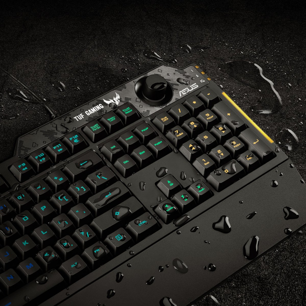We know what happens in the gaming battlefield. TUF Gaming K1 features a specialized coating with spill-resistance up to 300ml ensuring that accidents with cans or cups won't kill the action.  Discover: https://t.co/ZZv3K2DH9h https://t.co/j6V5gCxsVo