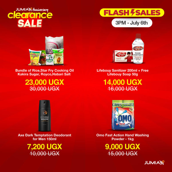 Jumia Uganda On Twitter Flash Sale Alert Join Us On Our App At 3pm For Amazing Deals On Must Have Essentials Https T Co Rbjcjidxy8
