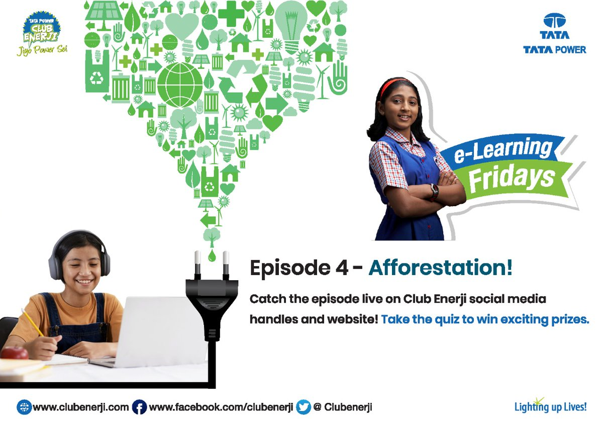 The 4th episode of the e-learning series enlightens us on ways to save energy and conserve our natural resources and why this is important. Watch here: https://t.co/3tsILnybHA & Participate in the quiz link here: https://t.co/ien75h2ETy #Elearning #ThisIsTataPower https://t.co/0qqURd26zB