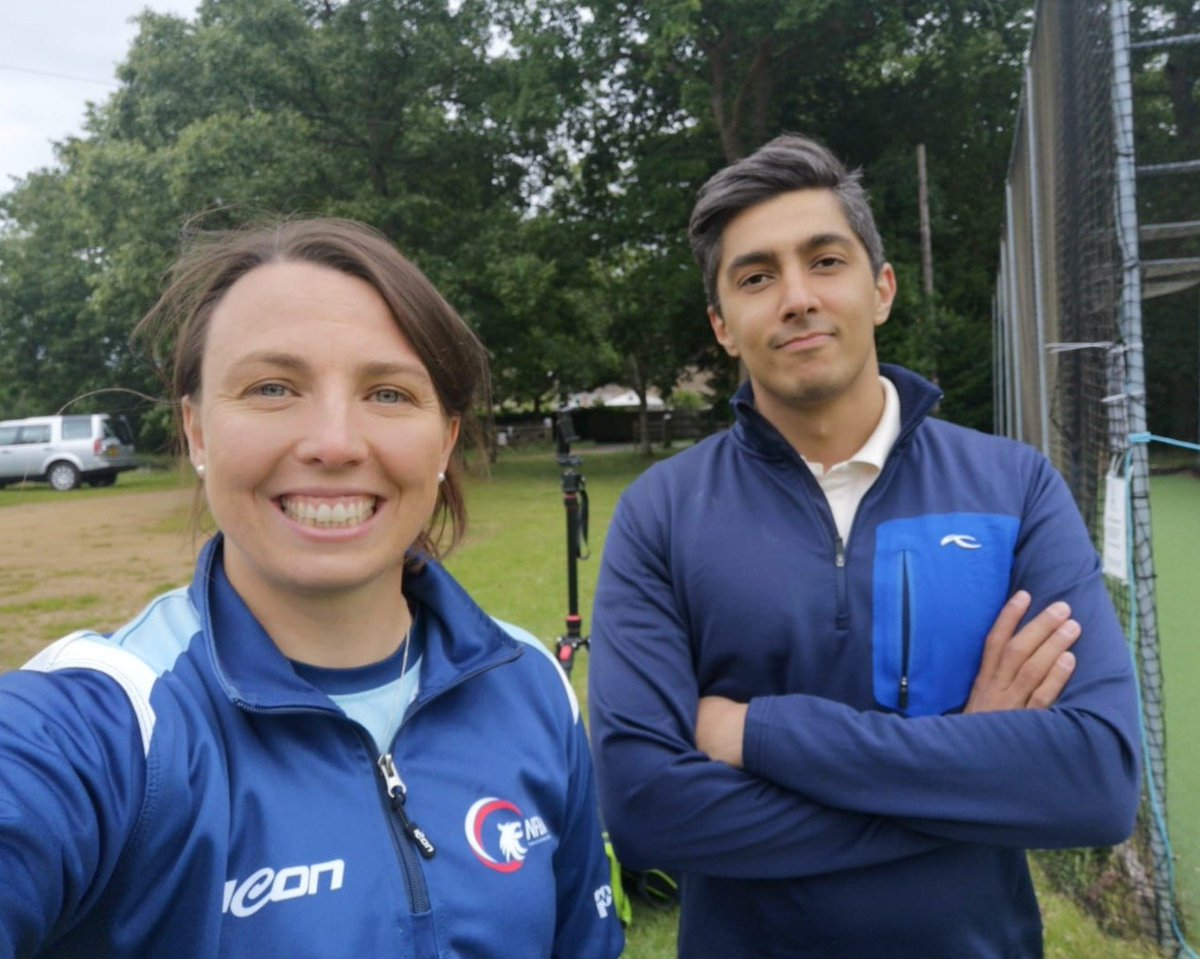 Great to catch up with @aliktareen today! Bowling wheels 💥 Watch out @MalikAsser 😂