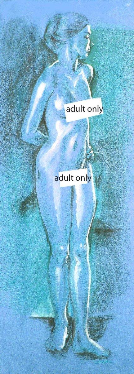 Blue Nude Figure Drawing Fine Art Limited Edition https://etsy.me/3bOvPoP #art #print #giclee #femalefigure #figurativeart #sensualart pic.twitter.com/wyygUlK45Q