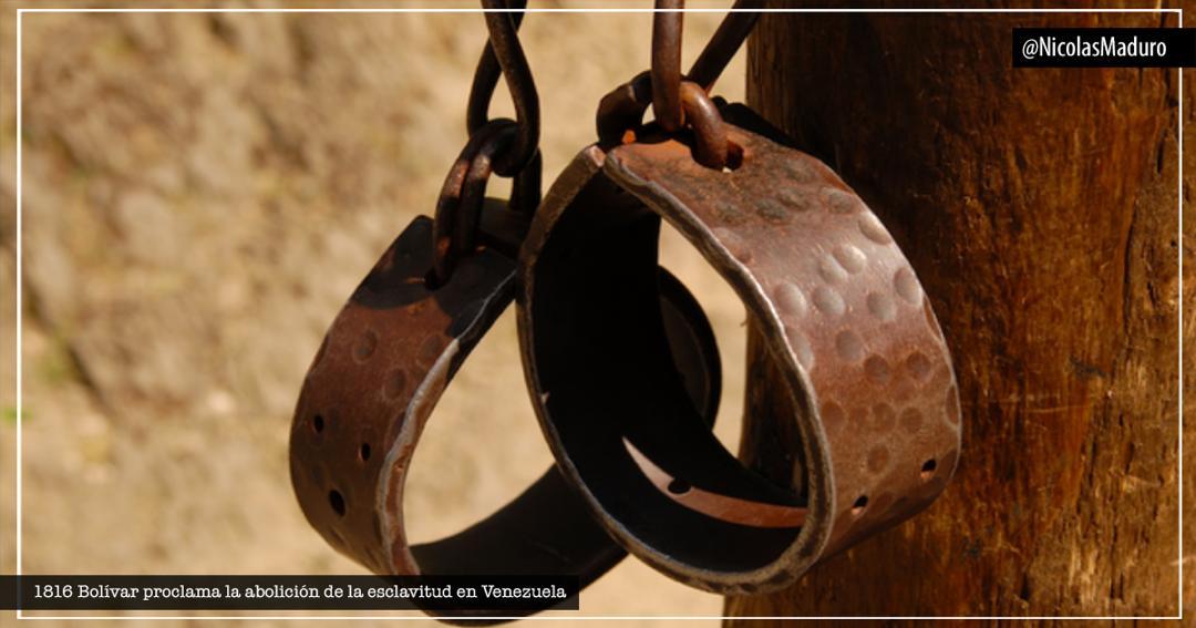 Hace 204 años, desde la heroica Ocumare de la Costa, el Libertador Simón Bolívar llamó a romper las cadenas de la esclavitud contra nuestros hermanos africanos. Reiteramos esa proclama como muestra de nuestra voluntad por construir una humanidad libre de prácticas opresoras. https://t.co/1hwIRbUIHC