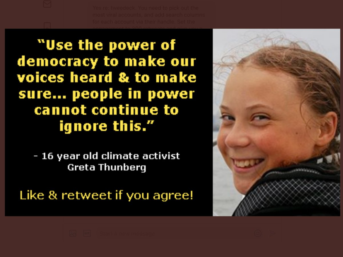 @SenSanders @AOC We all know the job is huge but we can do it best together! As @GretaThunberg says!