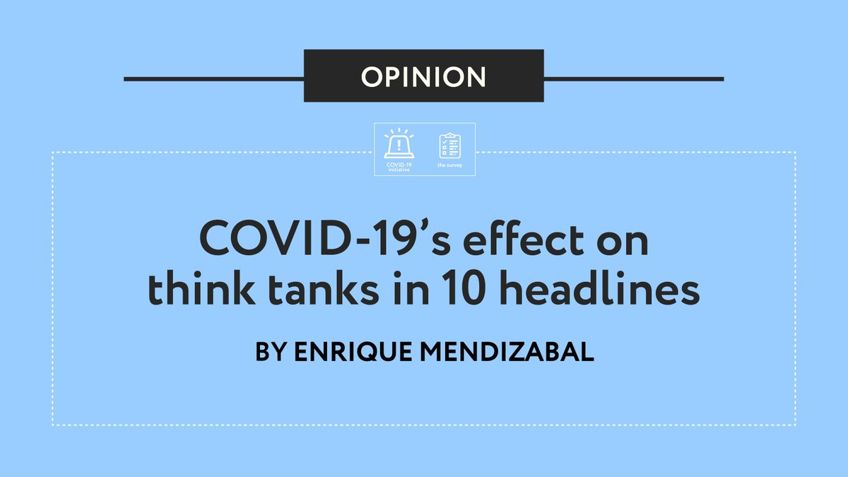 @QQMendizabal 6. #Thinktanks have responded with a range of strategies 💪  From home-working and re-assessing research and comms plans, to contacting donors and boards. Only a few have laid-off staff.  https://t.co/7dzU6xYAOd https://t.co/SYrsqOl6IS