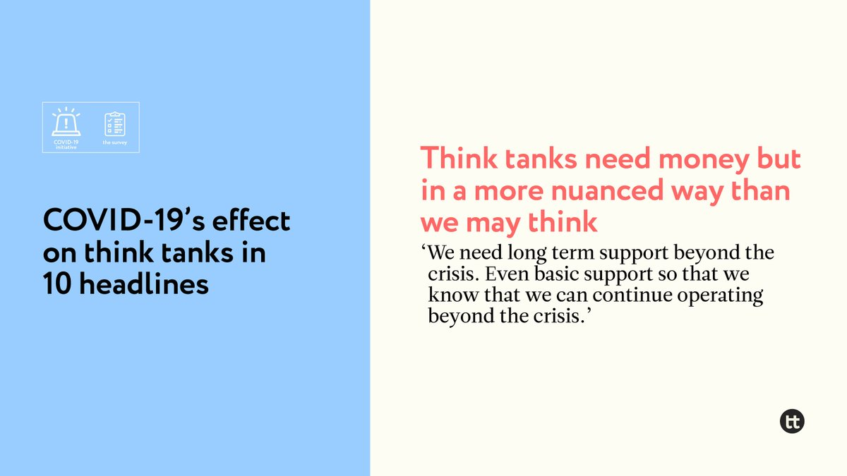 """@QQMendizabal 8. #Thinktanks need money, but in a more nuanced way than we may think 🤔    '[We need] clear regulations on how to handle surplus budgets in 2020 or even 2021.' https://t.co/7dzU6xYAOd"""" https://t.co/T94ZjeJweK"""