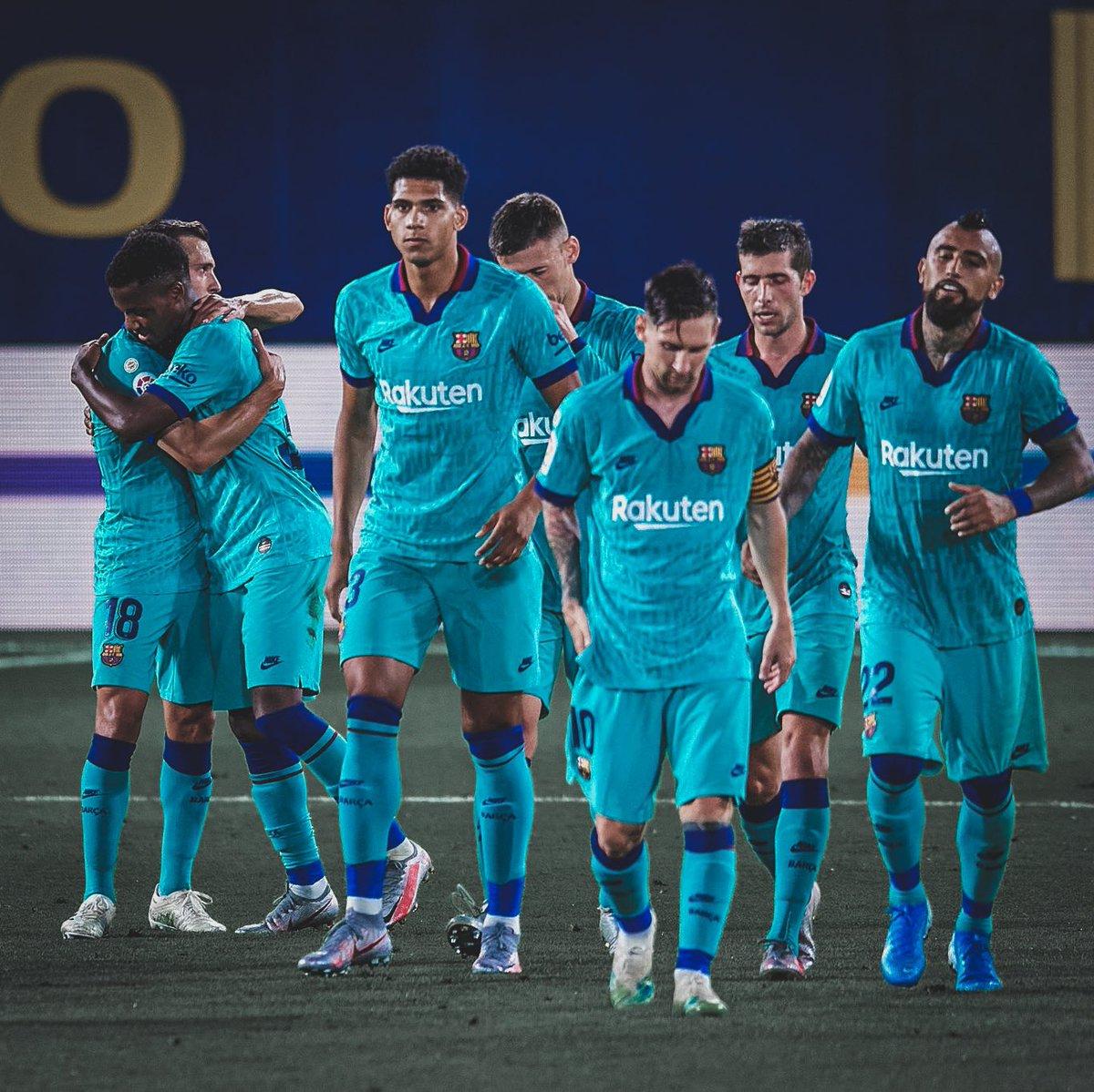 Gran partido del equipo .  Seguimos luchando hasta el final!  Força barça. Gloria a Dios ! 💪🏽🙏🏾🔵🔴
